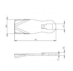 Язычок замка HS с зубчатым механизмом - простая версия