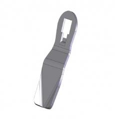 Язычок замка HS с зубчатым механизмом - версия гнутая