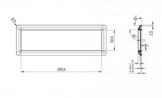 Информационная табличка - поликарбонат 20x5
