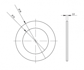 Прокладка для кабельного ввода d29
