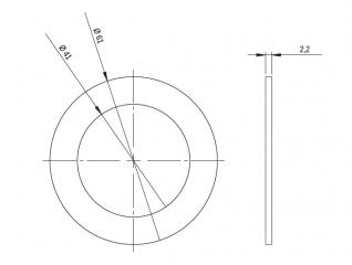 Прокладка для кабельного ввода d39