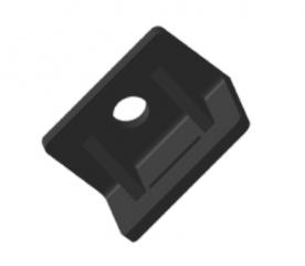 KDT A - пластиковый уголок для крепления хомутов