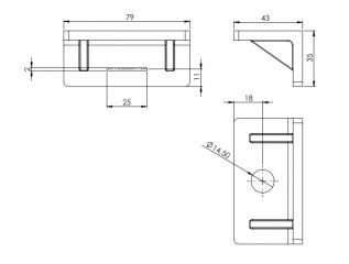 KDT B - пластиковый уголок для крепления хомутов